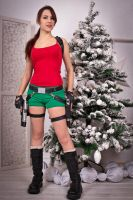 New Year's Lara Croft - snowy fir-tree ^^ by TanyaCroft