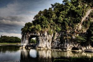 Elephant Rock in Guilin, China by ruthsantcortis