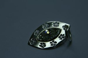 zirkonia necklace by Silverwing9960