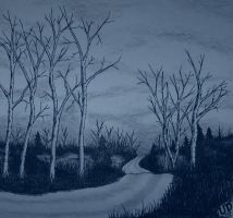 LONESOME ROAD AT DUSK by uncledave