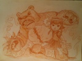 Annie and Tibbers (visual upgrade) by IsDawg