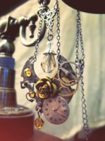 Steampunk victorian necklace by Verope