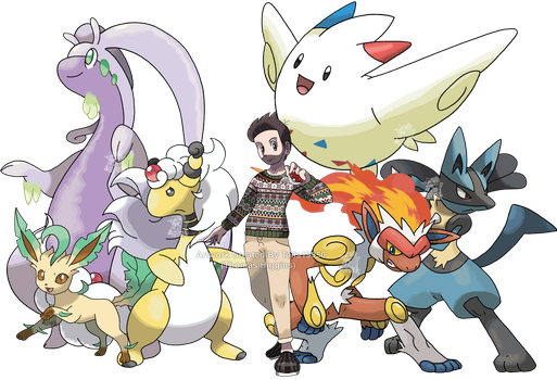 Trainer OC - Tom and Pokemon Team by Tails19950