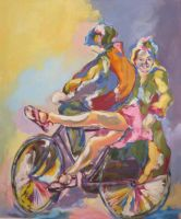 girl with a bicycle by hayalcimavi