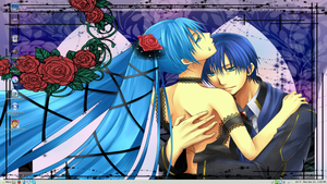 Kaito x Miku Cantarella Linux Mint 17 Desktop by PharaohAtisLioness