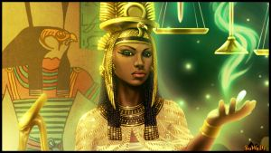 QUEEN AHMES-NEFERTARI-close up. by LeeReex