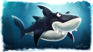 SpeedPaint (2hr) - DKCR Shark by AlexanderHenderson