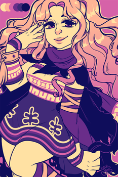Palette Challenge- WITCH PRINCESS by kawajenn