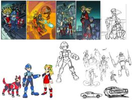 Sketch DUMP Megaman by will-Ruzicka