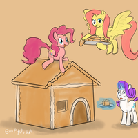 Pinkie's Gingerbread House - 30 minute challenge by Empyu