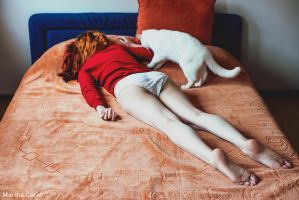Lethargy with Cat by MarinaCoric