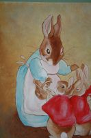 Beatrix Potter Mural Closeup by Anvikit