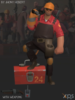 Engineer - Team Fortress 2 (Blue and Red) by JhonyHebert