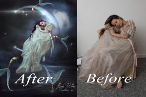 A dream in the light of the moon-antes y despues by Marazul45