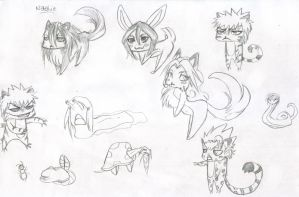Bleach animals by PsychoNinjaNatalie
