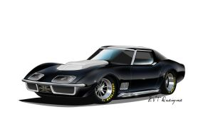 69 Corvette Road Racer by zvtdesigns