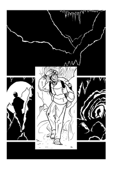 The End #5 - Story #2 - Cave Explorer (Inks - Fin) by thescarletspider