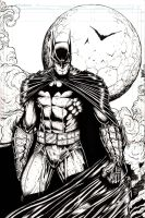 Dark Knight (INKS) by rhixart