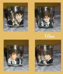 The Beatles on a glass by Aedua