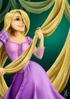 Rapunzel (Tangled) by Alyoxy