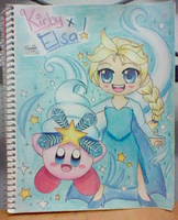 Snow Bowl Kirby and Elsa!! by SuperMarioFan888