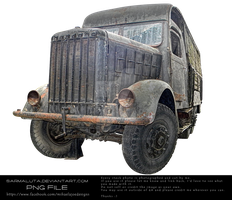 Old truck used in WW2 by MihaelaJoeDesigns