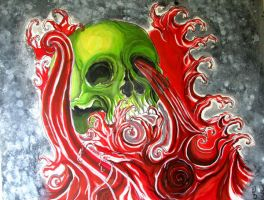 skull and waves by SilentStudiosUK
