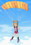 PC - Parachuting Serena by FloisonKeya