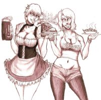 APH - The Waitress by redblacktac