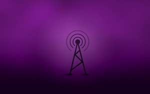 radio antenna purple by tomge