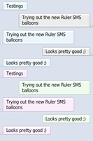Ruler SMS Balloons - iPhone by misecia