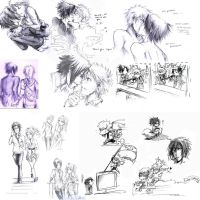 Massive SxNxS sketch dump 1 by ryuusei-illusion