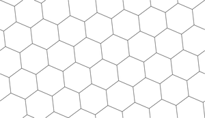 Rotated Grey Hexagonal Grid Source by chadparker42