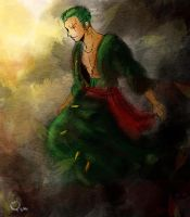 Ink Painting-Zoro by yunzl