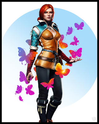 Triss Merigold | Butterflies by vitalyaya