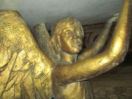 Golden statue of an angel 2 by FuriarossaAndMimma