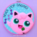 Jiggly Puff Never Stop Singing Hoop by iggystarpup