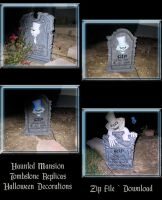 HM Tombstone Replicas Zip File by WDWParksGal-Stock