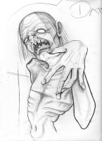 quick sketch of a thug zombie by flyingants