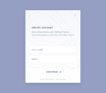 Create Account Design by r2ds