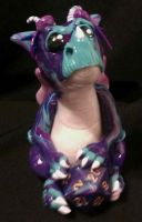 Purple and Blue Die Dragon by chasmatic