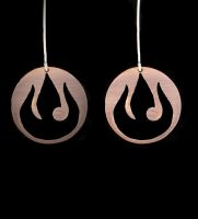 Re-design of Fire Nation Earrings by obsidiandevil