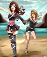 AT6/6 - Chie and Seika (Bleach OC) by MyangHime