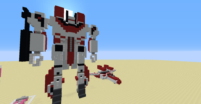 Jetfire (A Minecraft 1.12.X Creation) by Omega-the-24th-Wixon