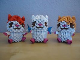 3D Origami - Hamsters by Mixowelle