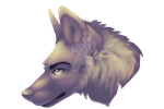 P2U Painted Wolf Head by Coonpelt