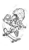 Sk8r gal lineart by vanna6yaoiheaven