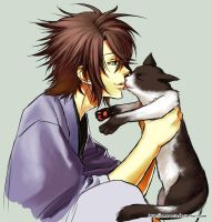 Hakuouki - Cat person by Amarevia