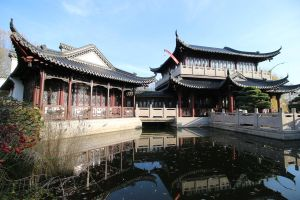 Chinese garden Stock 061 (private use) by Malleni-Stock