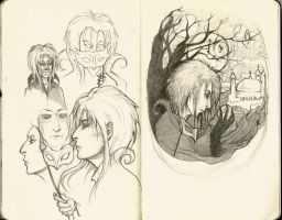 Jareth Sketches by raevynewings